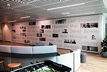 Stylish Operable Walls for Warner Music from Bildspec