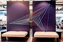 3D String Artwork for Modern Logo Display by Di Emme