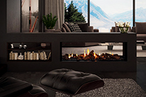 Double & Single Sided Gas Fireplaces from Cheminees Chazelles