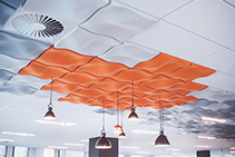 Acoustic 3D Ceiling Tiles - Quietspace® from The Nolan Group