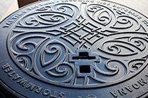 Manhole Covers as Street Art by EJ