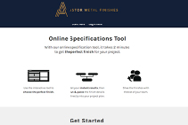 INTERIORS Metal Finishes Online Specification Tool from Astor Metal Finishes