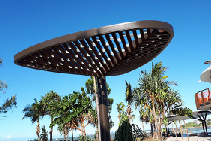 Wet Area Shade Structure with Bling from Allplastics