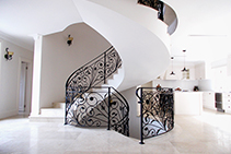 Ornate Wrought Iron Staircase Balustrades from AWIS