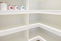 White Melamine Shelving Available from Hazelwood & Hill