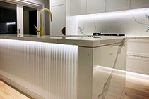 Corrugated Kitchen Bar Front by 3D Wall Panels