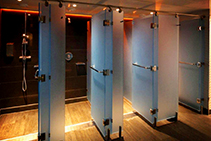 Frosted Perspex for Gym Bathrooms by Mitchell Laminates