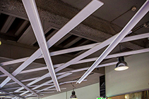 Suspended Lattice Ceiling Feature for Newtown Central by Di Emme