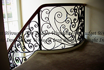 Bespoke Wrought Iron Staircases by Budget Wrought Iron
