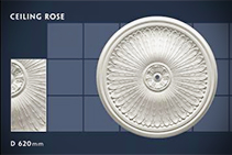620mm Plaster Ceiling Rose - 10 by CHAD Group