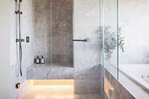 Luxury Bathroom Featuring Limestone Tiles from RMS Marble