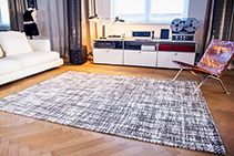 Colchani Chanel-Inspired Chequered Rugs from De Poortere