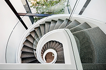 Spiral Glass Staircase for Matheson Road by Bent & Curved Glass