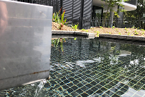 Mosaic Tile Water Feature Installation with LATICRETE