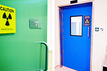 Hygienic Lead Lined X-ray Doors from DMF International