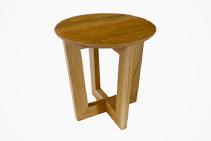 Circular American Oak Coffee Tables from DGI