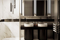 Interior Design Featuring Imperial White Marble from RMS Marble