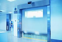 High-speed Cleanroom Roll Doors from DMF International