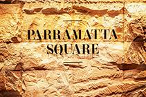 Sandstone Feature Walls for Parramatta Square by Di Emme