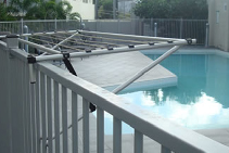 Portable Drying Line for Pools and Spa Areas from Versaline