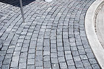 Granite Cobblestone Streetscape Completed with LATICRETE