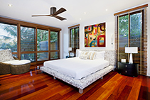 Rustic Ceiling Fans with Timber-look Blades from Prestige Fans