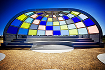 Coloured Acrylic Sheets for Amphitheatre by Mitchell Group