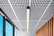 Key-Lena Bespoke Perforated Ceiling Panels from Keystone