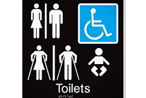 Braille Signage for Public Restrooms by Hillmont Signs