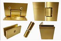 Brushed Brass Shower Hardware from FGS Hardware