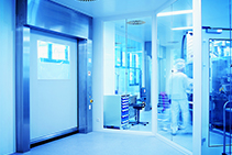 High-speed Roll Doors for Pharma Cleanrooms from DMF