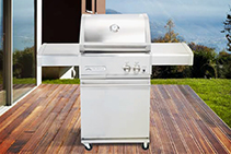 2 Burner Gas Barbeques with Trolley from Thermofilm