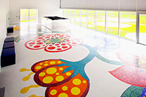 Artistic Mosaic Floors for the Museé du Louvre-Lens by TREND