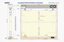 Heavy Multi-folding Door Tracks - AllWeather by Cowdroy