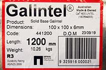 Compliant Hot-dip Galvanised Steel Lintels from Galintel