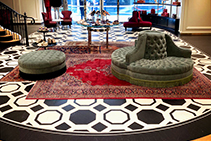 Luxury Painted Parquet Floors for Gucci by Di Emme