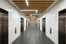 Dramatic Lift Lobby Fitout with MAXI BEAM by SUPAWOOD