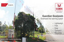 Guardian Goalposts Overhead Line Warning from CUBIS Systems