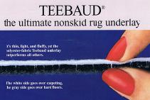 Teebaud Non-Skid Rug Underlay from De Poortere
