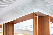 Perforated Acoustic Plaster Ceilings - VoglFuge by Atkar