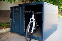 Secure Commercial Bicycle Lockers from Cora Bike Rack