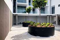 Custom HDPE Planter Boxes for Landscaping from Allplastics