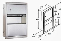 Compact Paper Towel Dispenser & Waste Receptacle from Star