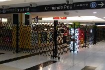 Crowd Control Gates for Major Transit Stations from Trellis Door Co