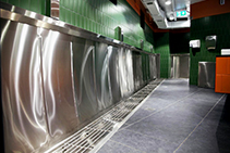 L-shaped Commercial Urinals for Flemington by Britex