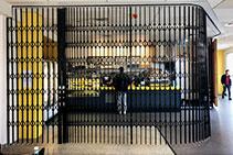 Curved Security Door for Deakin University from Trellis Door Co