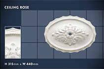 315 x 440mm Oval Ceiling Roses - 13 from CHAD Group