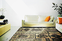 Bohemian Black Russian Rugs from De Poortere