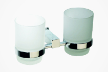 Dual Glass Tumbler Holders for Bathrooms from Tilo Tapware