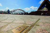 Brass Edged Access Covers at Sydney Opera House from EJ